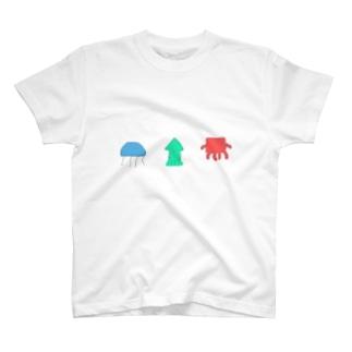 海のまるさんかくしかく T-shirts