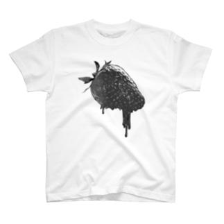 いちごさん黒 T-shirts