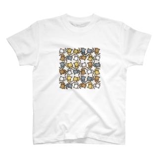 3色のニャンコ T-shirts