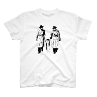 捕まったネコ(モアレ) T-shirts