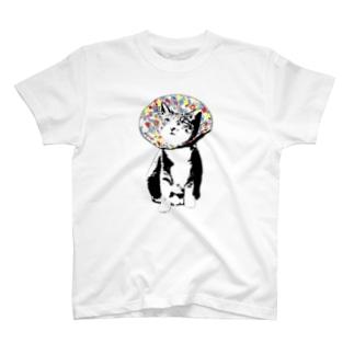 フラワーキャット(花柄) T-shirts