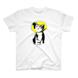 フラワーキャット(イエロー) T-shirts