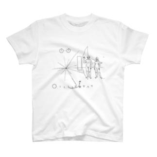パイオニア探査機の金属板 T-shirts