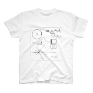 ボイジャーのゴールデンレコード T-shirts