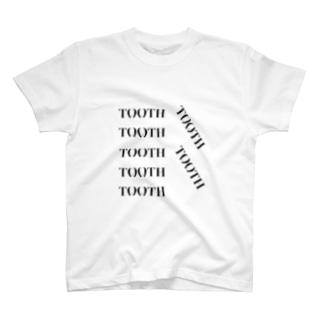 Tooth logo よく見ると歯の形 Tシャツ