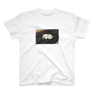 人生を振り返る猫(レールあり) T-shirts