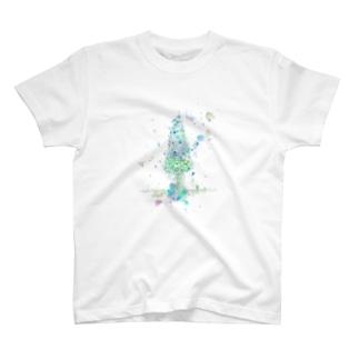 葉車-雪つもるもみの木- T-shirts