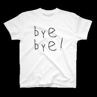 ヒューアンド チューのbyebye T-shirt T-shirts