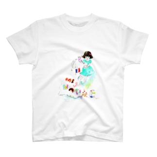 ミニョンヌちゃんとうさぎ T-shirts