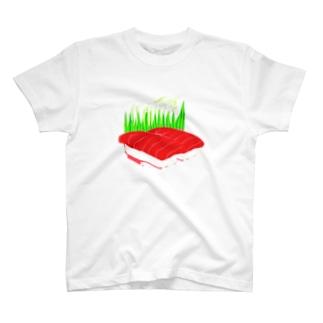 まぐろ2貫 T-shirts
