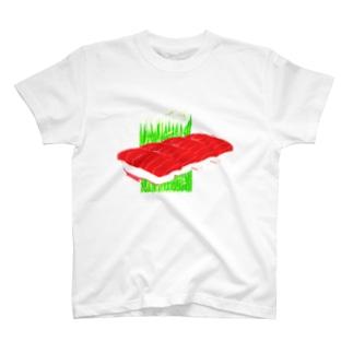 まぐろ4貫 T-shirts