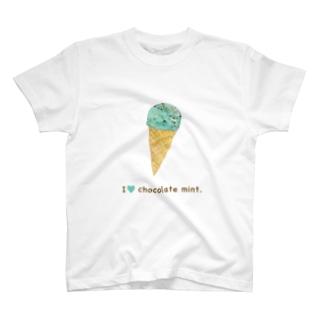 チョコミン党Tシャツ T-shirts