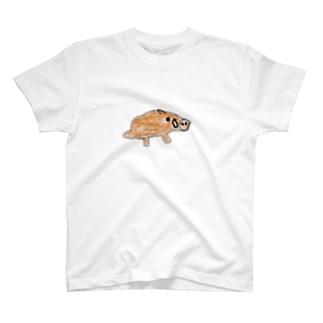 手書きのイノシシ Tシャツ