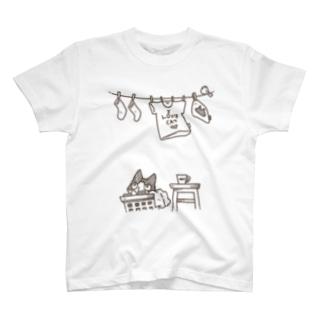 晴れの日のハチワレ T-shirts