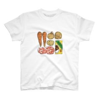 カレーの材料を覚えておくため T-shirts