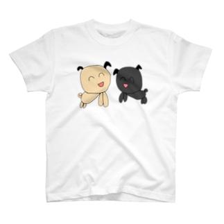 ぱぐちゃん ふたり T-shirts
