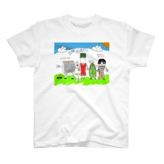 すき焼きファミリーTシャツ T-shirts