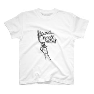 ヘビースモーカー(黒) T-shirts