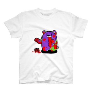 ザクロ大好きひぐまくん(先祖) T-shirts