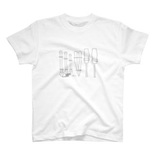 仕事道具(と猫) T-shirts