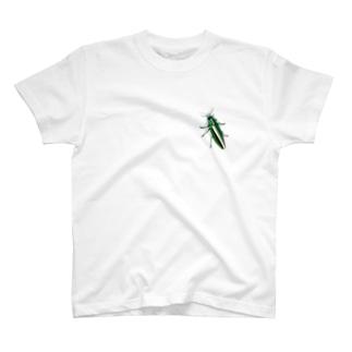 いたずらデザイン(ちょっとタマムシついてますよ) T-shirts