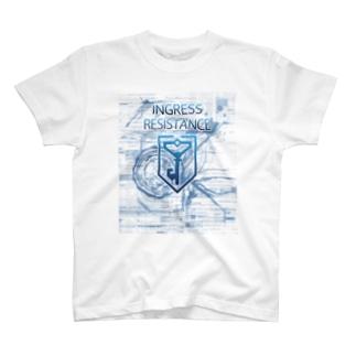INGRESS RESISTANCE Blue T-shirts