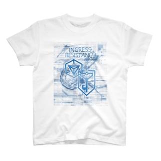 INGRESS RESISTANCE W-Blue  Tシャツ