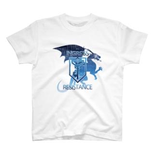 INGRESS RESISTANCE BlueDragon2 T-shirts