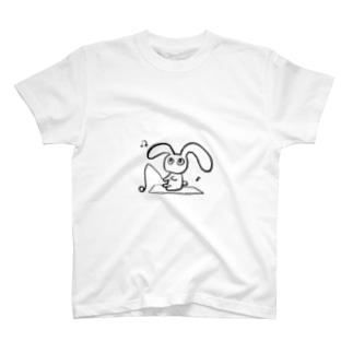 わきたの釣りうさ T-shirts