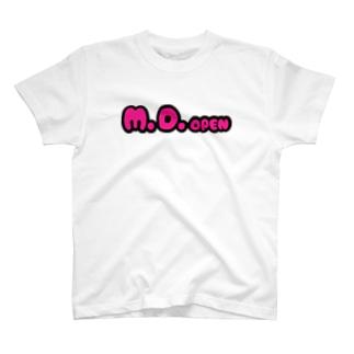 M.D.openピンクロゴ T-shirts