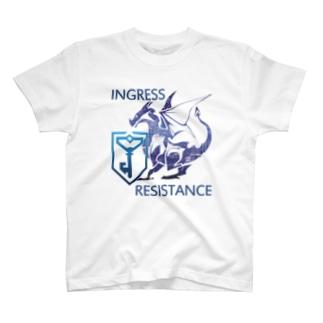 INGRESS RESISTANCE BlueDragon3 T-shirts