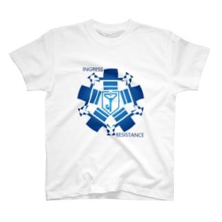 INGRESS RESISTANCE BlueCircle T-shirts