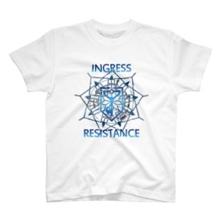 INGRESS RESISTANCE BlueArrow T-shirts