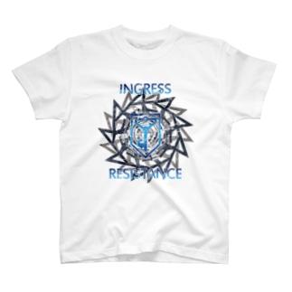 INGRESS RESISTANCE BlueGear Tシャツ