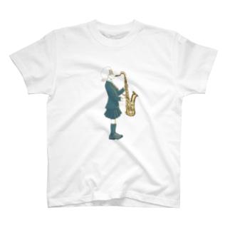 サックスと女の子 T-shirts