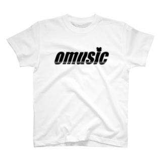 OMUSIC(黒ロゴ) T-shirts
