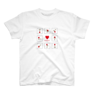 けん玉らぶ(赤/黒枠) T-shirts