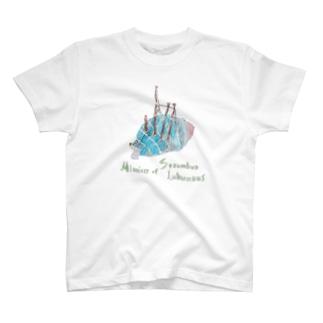 バグパイプのふりをするマガキガイTシャツ T-shirts
