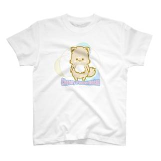 チーキーポメラニアン カラフル T-shirts