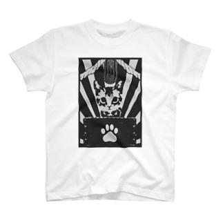 猫様を称えよ Tシャツ(白) T-shirts