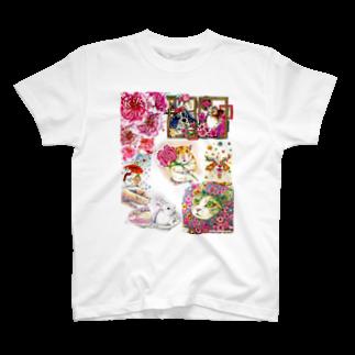 ボールペン画と可愛い動物のボールペン画と可愛い動物 T-shirts