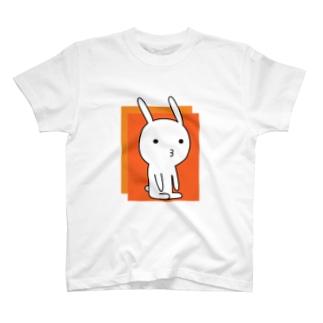 素うさぎ ー瞑想ー T-shirts