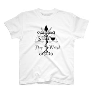 モノクロ 天秤 T-shirts