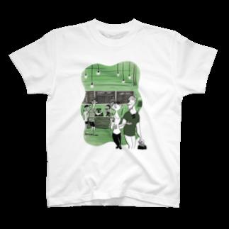 Seto HiroakiのGREEN T-shirts