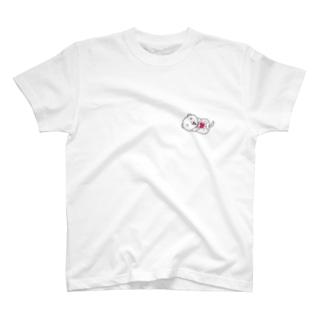 薄いカラー用ホワイトフェレットフロント&バックプリント T-shirts