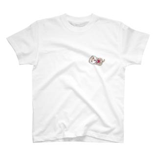 薄いカラー用シナモンフェレットフロント&バックプリント T-shirts