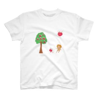 りんごうさぎ T-shirts