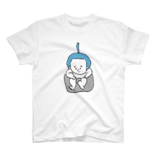 ちょんまげ(おすわり) T-shirts