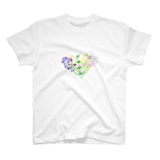 七草でハート T-shirts