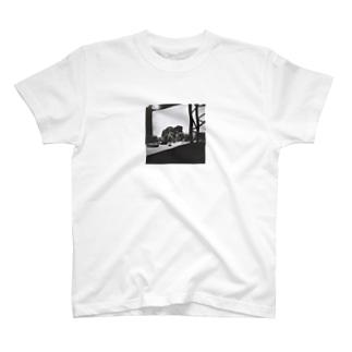 撮影セットの中の自転車 T-shirts